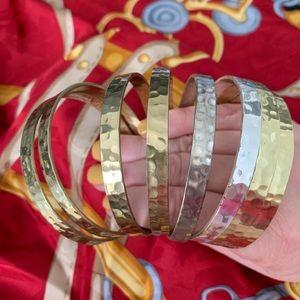 Set of 8 Rustic Cuff bangles